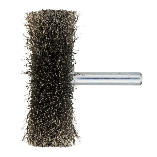 10 Stk. | Schaftrund-Drahtbürste BSVW für Edelstahl 40x11 mm für Bohrmaschinen gewellt Artikelhauptbild