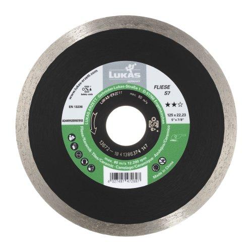 LUKAS Diamanttrennscheibe FLIESE S7 für Stein/Fliesen Ø 125 mm für Winkelschleifer  Artikelhauptbild