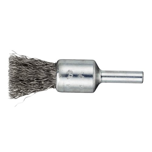 10 Stk.   Pinsel-Drahtbürste BPVW für Edelstahl 25x25 mm für Bohrmaschinen gewellt Artikelhauptbild
