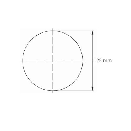 50 Stk. | LUKAS Schleifblätter PSH universal Medium Ø 125 mm Kompaktkorn 240 Maßzeichnung