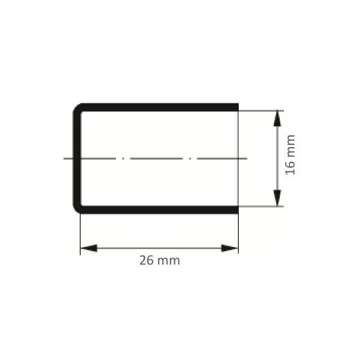 100 Stk. | LUKAS Schleifkappe SKZYS Zylinderform universal 16x26 mm Spezialkorund Korn 150 Maßzeichnung