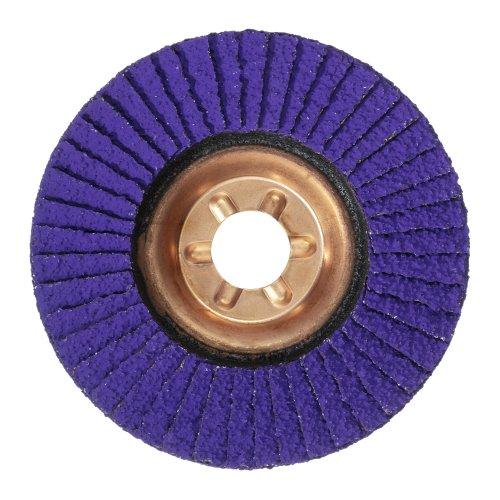 1 Stk. | Fächerschleifscheibe V4 PURPLE-POWER universal Ø 125 mm Ceramic Korn 36 schräg Produktbild