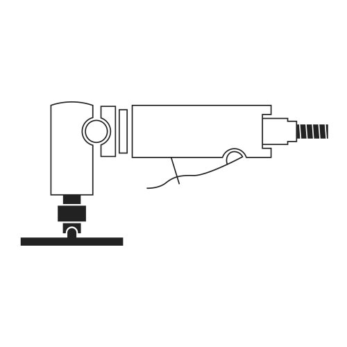 10 Stk. | LUKAS Mini-Fächerschleifscheibe SLTG universal Ø 75 mm Zirkonkorund Korn 120 flach  Abb. ähnlich