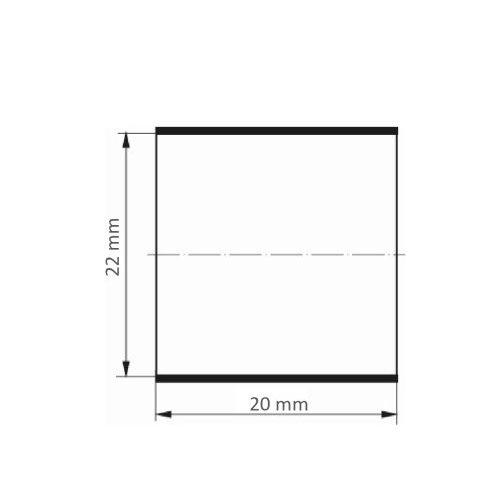 50 Stk. | LUKAS Schleifhülse SBZY universal 22x20 mm Korund Korn 150 Maßzeichnung