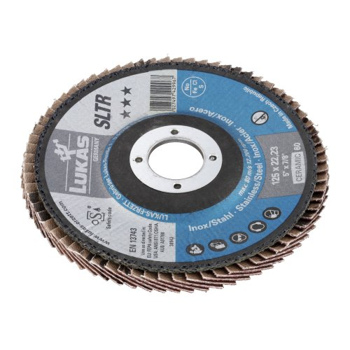 1 Stk. | Fächerschleifscheibe SLTR universal Ø 115 mm Ceramic Korn 60 schräg Produktbild