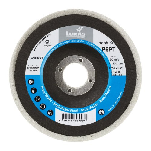 5 Stk. | Polierteller P6PT Ø 125 mm Medium für Winkelschleifer flach Kompaktkorn Artikelhauptbild