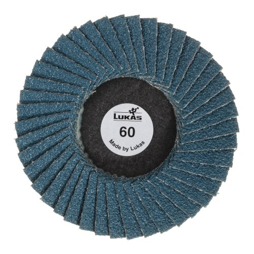 10 Stk. | LUKAS Mini-Fächerschleifscheibe SLTG universal Ø 75 mm Zirkonkorund Korn 120 flach  Artikelhauptbild