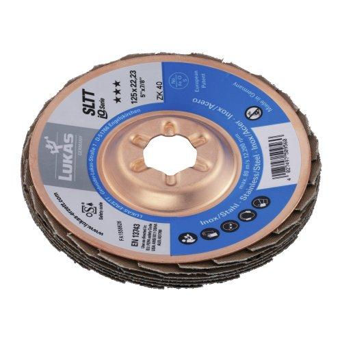 1 Stk. | Fächerschleifscheibe SLTT universal Ø 125 mm Zirkonkorund Korn 40 flach Produktbild