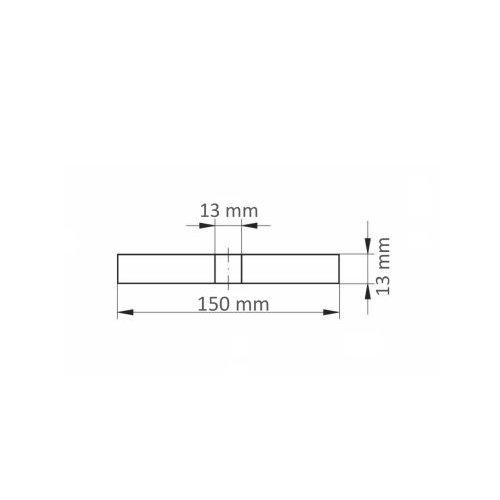 10 Stk.   Reinigungsvlies ASVS universal 150x13 mm Bohrung 13mm Maßzeichnung