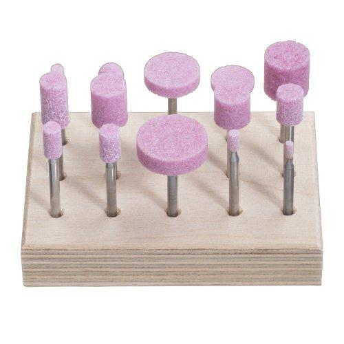 1 Stk. | Schleifstift-Set für Stahl/Stahlguss 14-teilig Schaft 3 mm Edelkorund Artikelhauptbild