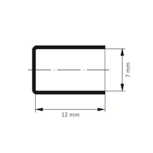 100 Stk. | Schleifkappe SKZYS Zylinderform universal 7x12 mm Spezialkorund Korn 80 Maßzeichnung