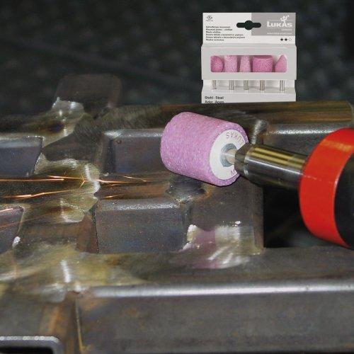 LUKAS Schleifstift-Set für Stahl 5-teilig Schaft 6 mm Edelkorund  Schaltbild