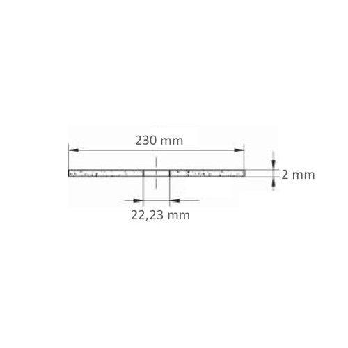 LUKAS Trennscheibe T41 für Edelstahl Ø 230x2,0 mm gerade | für Winkelschleifer Maßzeichnung