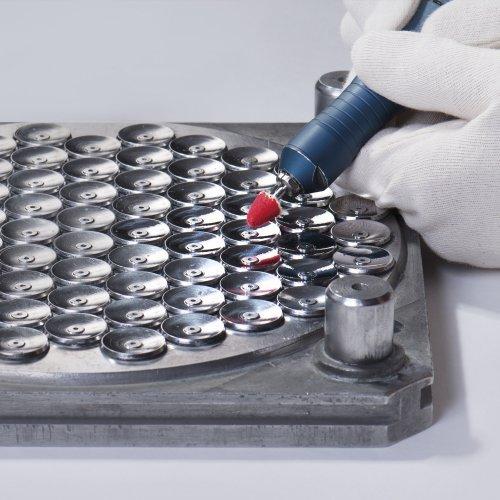 10 Stk. | Polierstift P3SP Spitzbogenform 25x30 mm Schaft 6 mm Filz für Polierpaste Schaltbild