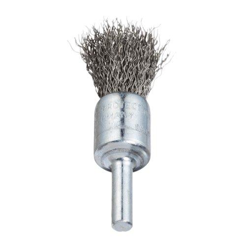 10 Stk.   Pinsel-Drahtbürste BPVW für Edelstahl 25x25 mm für Bohrmaschinen gewellt Produktbild