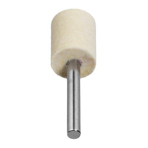 10 Stk. | Polierstift P3ZY Zylinderform 20x25 mm Schaft 6 mm Filz für Polierpaste Produktbild