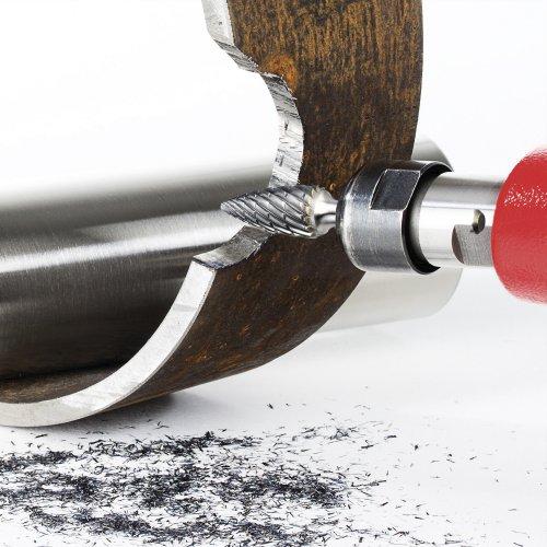 LUKAS Fräser HFG Spitzbogenform für Edelstahl/Stahl 12x25 mm Schaft 6 mm Schaltbild