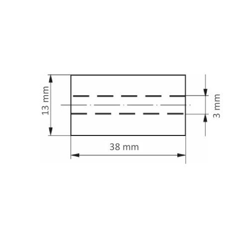 50 Stk. | Schleifrolle SRZY universal 13x38 mm Ceramic Korn 80 Maßzeichnung