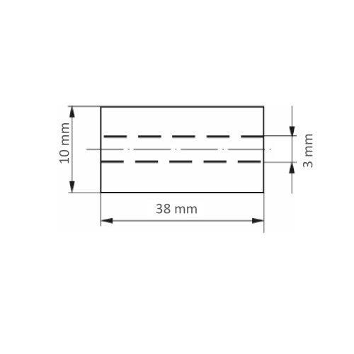 50 Stk. | Schleifrolle SRZY universal 10x38 mm Ceramic Korn 60 Maßzeichnung