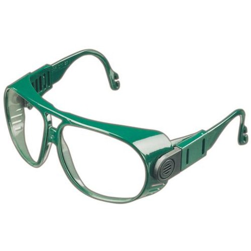 Bügelbrille 692, PC farblos, Rahmen grün
