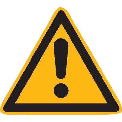 Warnschild Fol Gefahrstelle SL 100mm