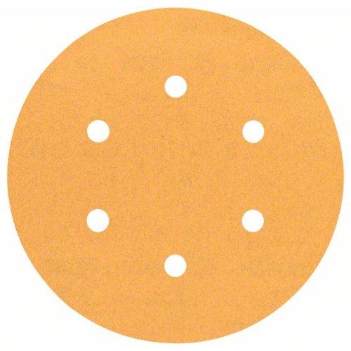Schleifblatt C470 für Exzenterschleifer, 150 mm, 120, 6 Löcher, Klett, 5er-Pack