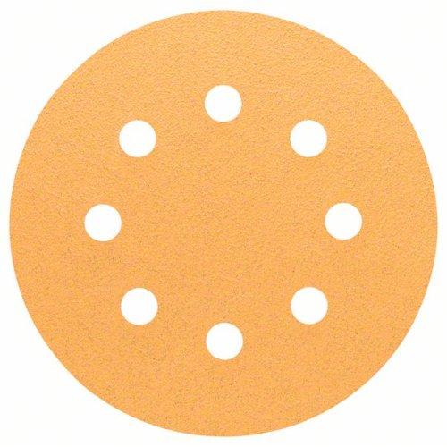Schleifblatt C470 für Exzenterschleifer, 115 mm, 80, 8 Löcher, Klett, 5er-Pack