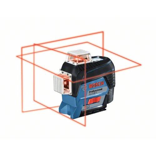Linienlaser GLL 3-80 C, mit 4 x 1,5-V-LR6-(AA)-Batterien, Akku-Adapter