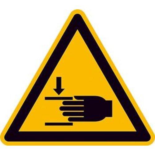Warnschild Fol Handverletzung SL100mm
