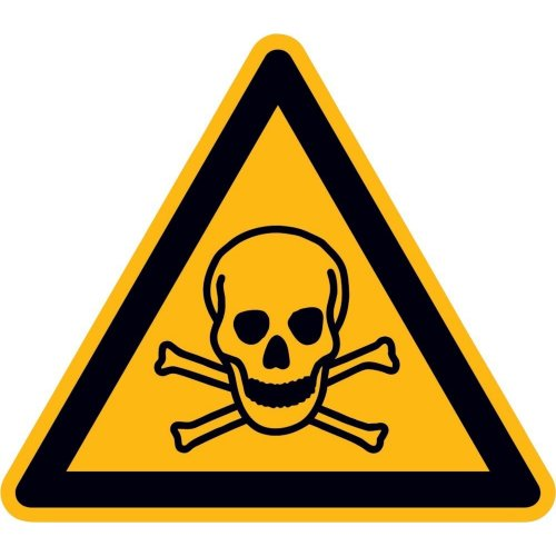 Warnschild Folie 200 mm giftige Stoffe