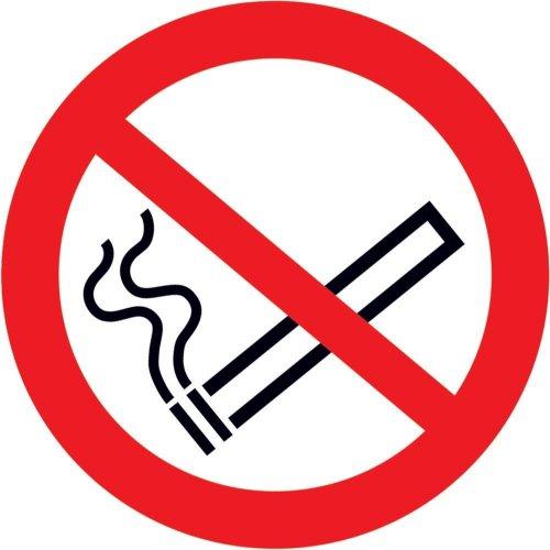 Verbotsschild Fol nachl Rauchen D 200 mm