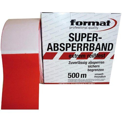 Format Absperrband rot/weiss 80mm Breit 500m lang