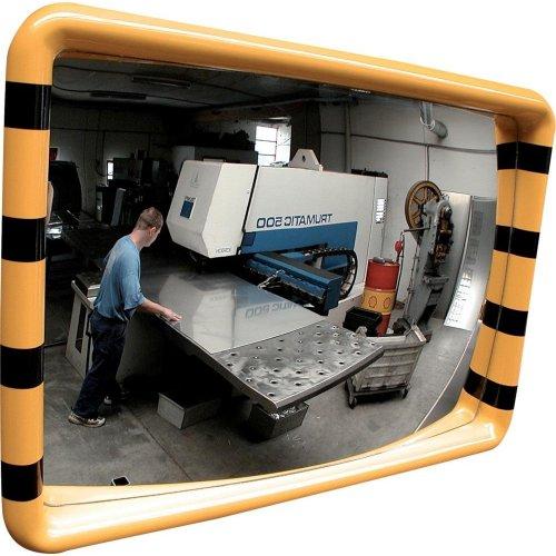 Dancop Industriespiegel gelb/schwarz 30x50 cm
