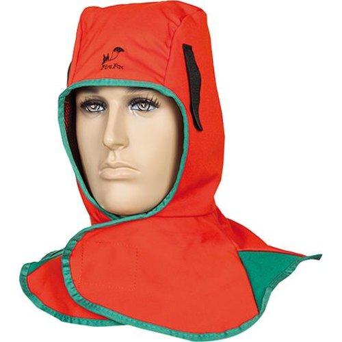 Kopf- und Nackenschutz Stoff orange