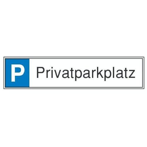 Parkplatzs.Privatpark Aluminium geprägt
