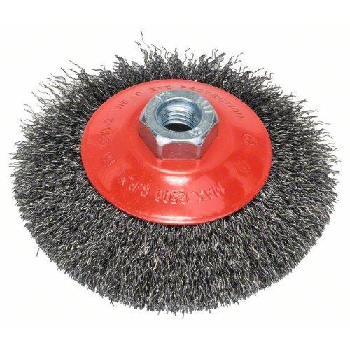 Kegelbürste, gewellter Draht, 0,3 mm, 115 mm, 12500 U/min, M 14