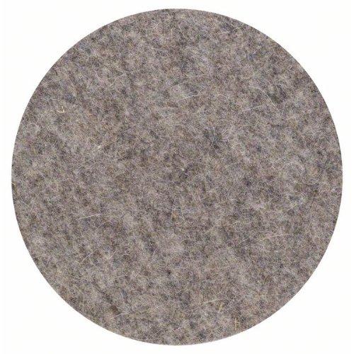 Polierfilz für Exzenterschleifer, weich, Klett, 160 mm, 2er-Pack