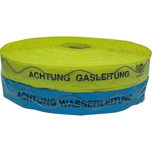 Kelmaplast Ortungsband mit Kupferdraht Achtung Wasserleitung