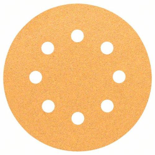 Schleifblatt C470 für Exzenterschleifer, 115 mm, 60, 8 Löcher, Klett, 5er-Pack