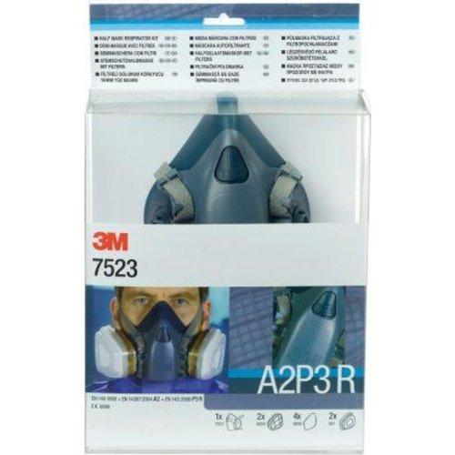 3M Maskenset 752mit Maske 7502, Filter A2P3R