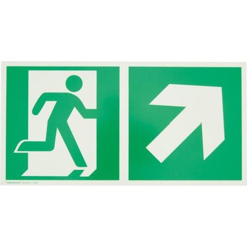 IHTec R-Schild,Rett.weg re auf 30x15cm,Alu,nachl.