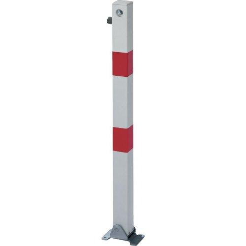 Absperrpfosten KLAPPY 70x70 mm Dreik. Aufschr.
