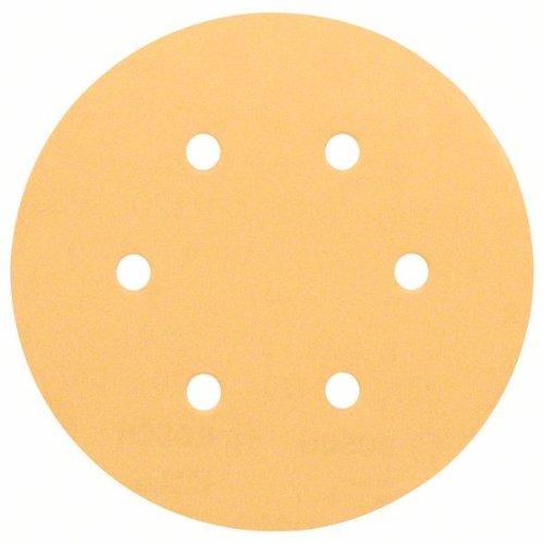 Schleifblatt C470 für Exzenterschleifer, 150 mm, 40, 6 Löcher, Klett, 5er-Pack