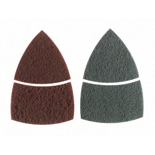 Reinigungsvlies-Set für Multischleifer, 2-teilig, Klett, 102 x 62, 93 mm