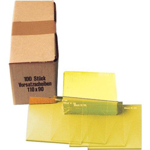 IHTec Vorsatzglas gelb DIN 90x110mm