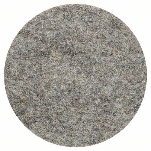 Polierfilz für Exzenterschleifer, weich, Klett, 128 mm, 5er-Pack