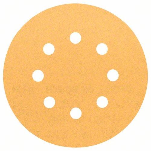 Schleifblatt C470 für Exzenterschleifer, 125 mm, 180, 8 Löcher, Klett, 5er-Pack