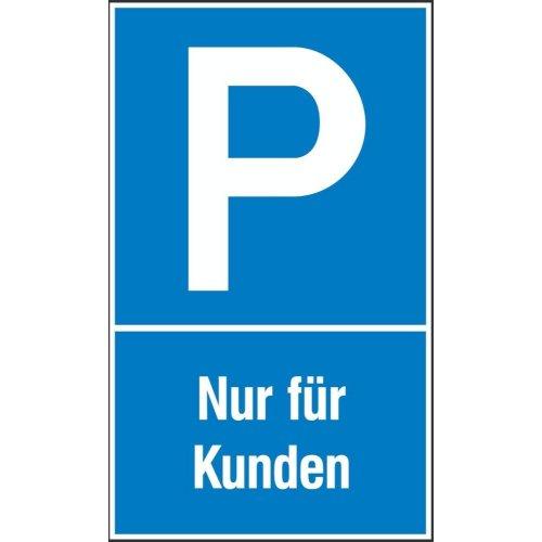 Parkplatzs. Nur f. Kund. Aluminium geprägt