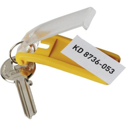 Durable Schlüsselanhänger gelb Beutel a 6 Stück