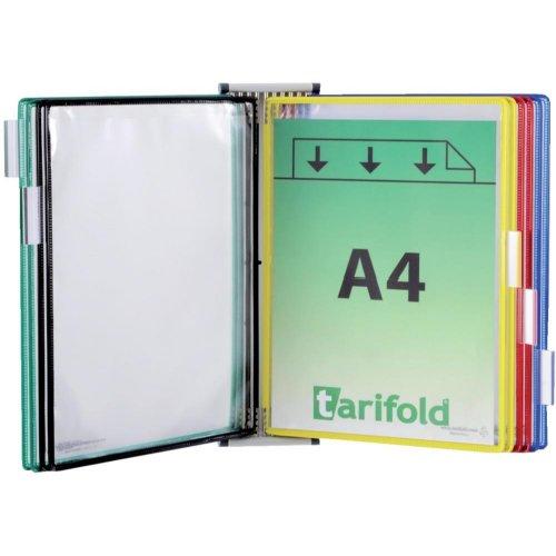 Tarifold Wandsichttafelsystem A4 magnet. m. 10 Tafeln